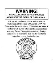 Fire Certification Label